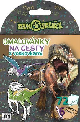 Obrázek Omalovánky + voskovky na cesty - Dino
