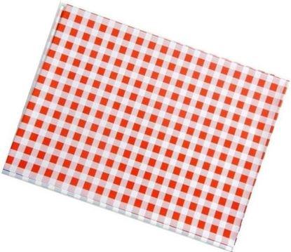 Obrázek Ubrus PVC - 65 x 50 cm / červené káro