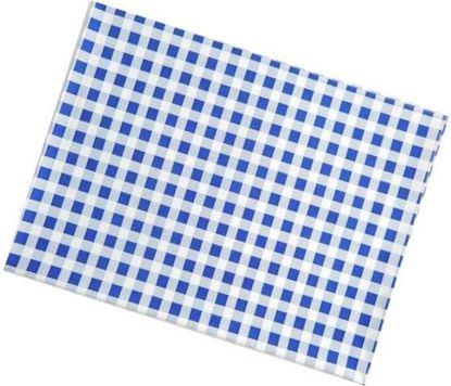 Obrázek Ubrus PVC - 65 x 50 cm / modré káro