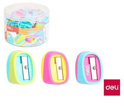 Obrázek Ořezávátko se zásobníkem DELI U-TOUCH - barevný mix