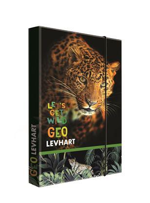 Obrázek Box na sešity A4 Jumbo -  Geo Wild Levhart