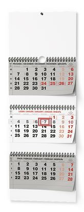 Obrázek Kalendář nástěnný pracovní - tříměsíční skládaný / BNC5