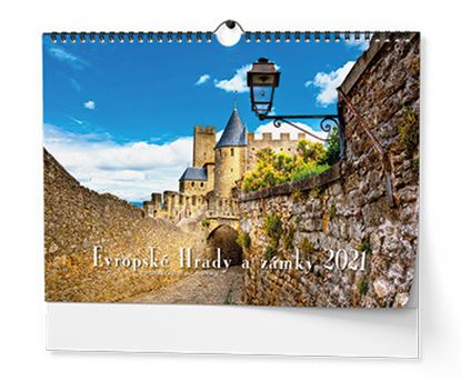 Obrázek Kalendář nástěnný -  Evropské hrady a zámky  / BNK2 / A3