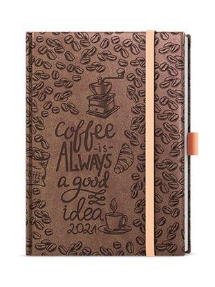 Obrázek Diáre VIVELLA B6 s gumičkou - denní / hnědý Coffee