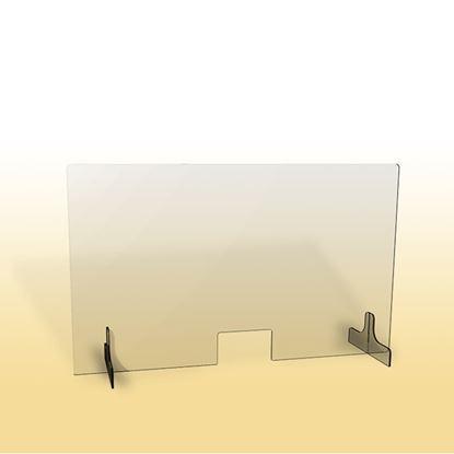 Obrázek Ochranná clona - 100 x 90 cm / plexi / otvor 26 x 15 cm