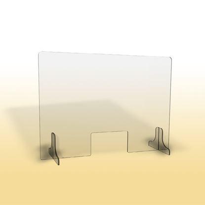 Obrázek Ochranná clona - 90 x 65 cm / plexi / otvor 26 x 15 cm