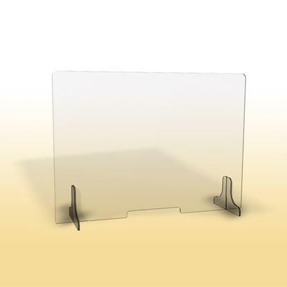 Obrázek Ochranná clona - 90 x 65 cm / plexi / otvor 26 x 3 cm