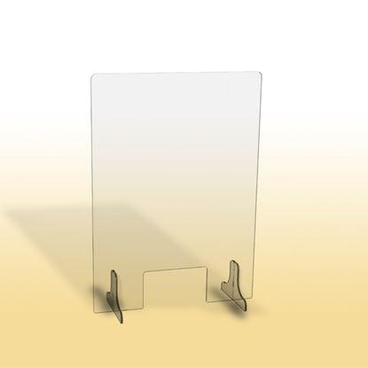 Obrázek Ochranná clona - 65 x 90 cm / plexi / otvor 26 x 15 cm