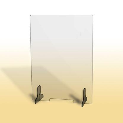 Obrázek Ochranná clona - 65 x 90 cm / plexi / otvor 26 x 3 cm