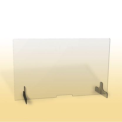 Obrázek Ochranná clona - 150 x 90 cm / plexi / otvor 26 x 3 cm