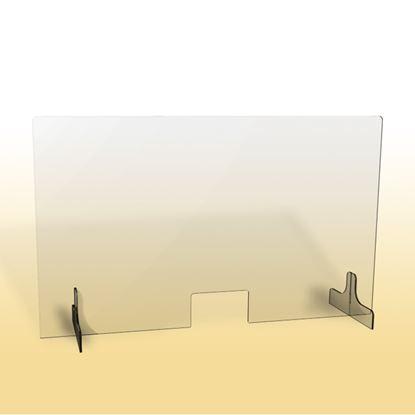 Obrázek Ochranná clona - 150 x 90 cm / plexi / otvor 26 x 15 cm