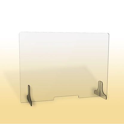 Obrázek Ochranná clona - 100 x 90 cm / plexi / otvor 26 x 3 cm