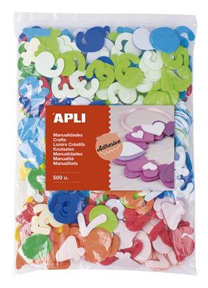 Obrázek Samolepicí číslice APLI Jumbo / mix barev / 500 ks