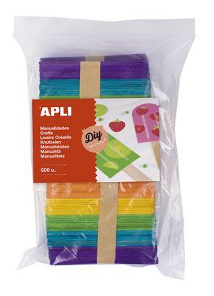 Obrázek Nanuková dřívka APLI Jumbo / mix barev / 500 ks
