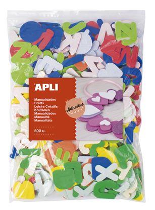 Obrázek Samolepicí abeceda APLI Jumbo / mix barev / 500 ks
