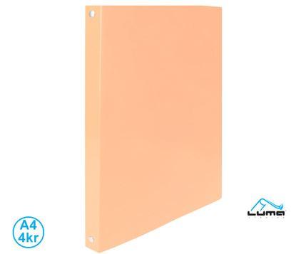 Obrázek Pořadač A4 kroužkový Pastel - 4 - kroužek / oranžová / Extra pevmé