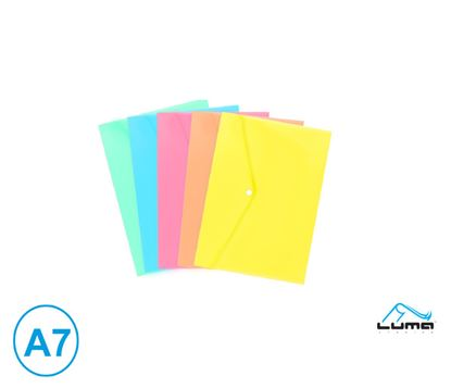 Obrázek Spisové desky s drukem - A7 / pastelový mix barev