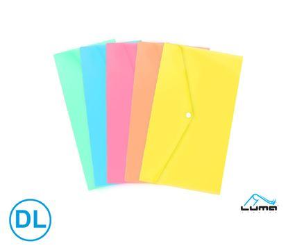 Obrázek Spisové desky s drukem - DL / pastelový mix barev