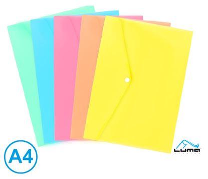 Obrázek Spisové desky s drukem - A4 / pastelový mix barev