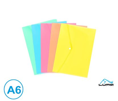 Obrázek Spisové desky s drukem - A6 / pastelový mix barev