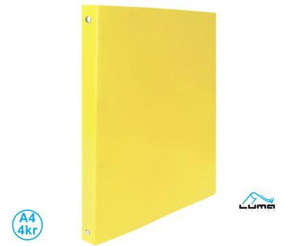 Obrázek Pořadač A4 kroužkový Pastel - 4 - kroužek / žlutá / Extra pevmé