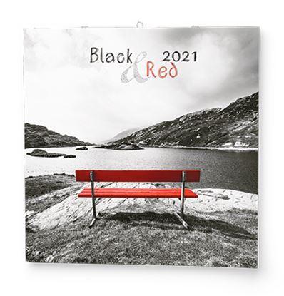 Obrázek Baloušek tisk 2021 Black&Red - nástěnný kalendář BNL8