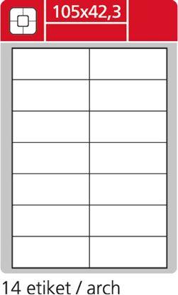 Obrázek Print etikety A4 pro laserový a inkoustový tisk - 105 x 42,3 mm (14 etiket / arch ) / snímatelné