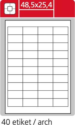 Obrázek Print etikety A4 pro laserový a inkoustový tisk - 48,5 x 25,4 mm (40 etiket / arch ) / lesklé