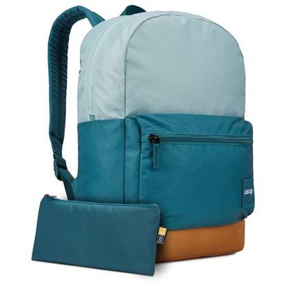 """Obrázek Studentský batoh s kapsou na notebook 15,6"""" Commence  - světle modrá / kmínově hnědá"""