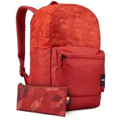 Obrázek Studentský batoh Founder - cihlově červená se vzorem