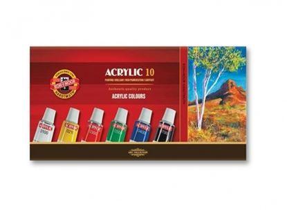 Obrázek Barvy akrylové - sada 10 ks