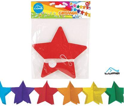 Obrázek Girlanda papírová - 4 m / hvězdy