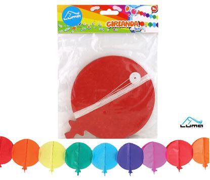 Obrázek Girlanda papírová - 4 m / balónky