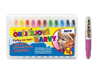 Obrázek Barvy na obličej - set 12 barev