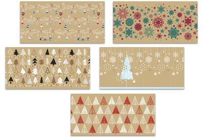Obrázek Stil Trade 1010000_908044 Vánoční obálka Kraft DL 105x205mm