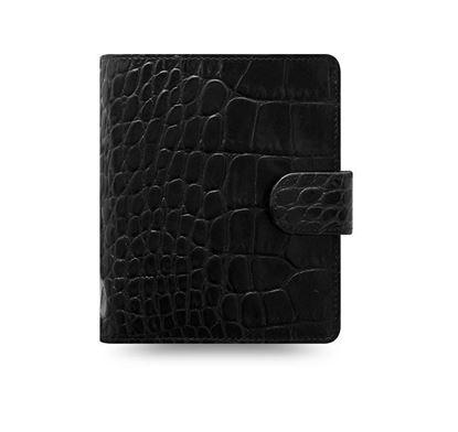 Obrázek Filofax Classic Croc A7 kapesní týdenní 2021 černá