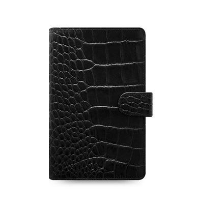 Obrázek Filofax Classic Croc A6 osobní compact týdenní 2021 černá