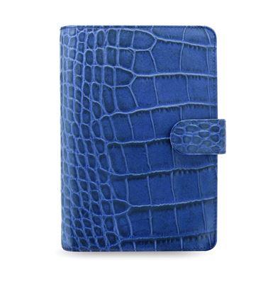 Obrázek Filofax Classic Croc A6 osobní týdenní 2021 modrá