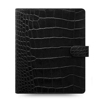 Obrázek Filofax Classic Croc A5 týdenní černá