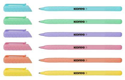 Obrázek Kuličkové pero Kores K0 - mix pastelových barev