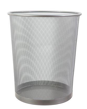 Obrázek CONCORDE kovový odpadkový koš - stříbrný