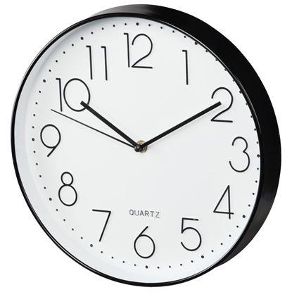 Obrázek Nástěnné hodiny Hama Elegance tiché / bílo-černé / průměr 30 cm
