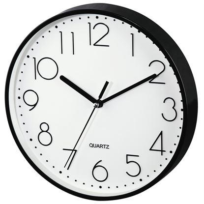 Obrázek Hodiny nástěnné Hama PG-220 černé / tichý chod / průměr 22 cm