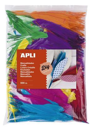 Obrázek Indiánská peříčka APLI Jumbo / mix barev / 500 ks