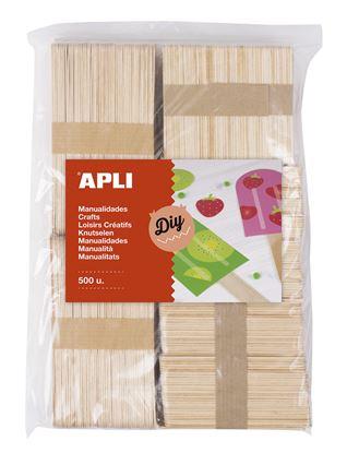 Obrázek Nanuková dřívka APLI přírodní / Jumbo / mix barev / 800 ks