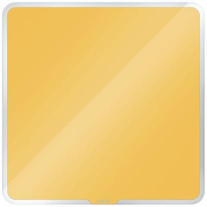 Obrázek Tabule magnetická skleněná Leitz COSY - 45 x 45 cm / teplá žlutá