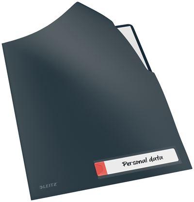 Obrázek Zakládací obal A4 Leitz COSY - tvar L / sametově šedá / 3 ks