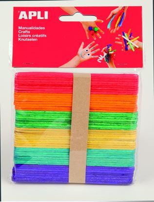 Obrázek Nanuková dřívka APLI mix barev / 50 ks
