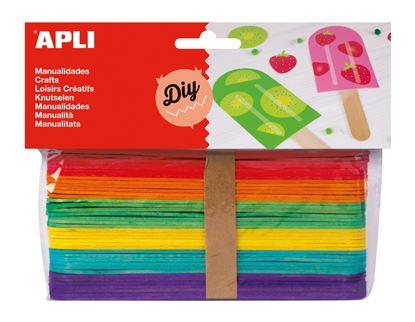 Obrázek Nanuková dřívka APLI mix barev / 40 ks