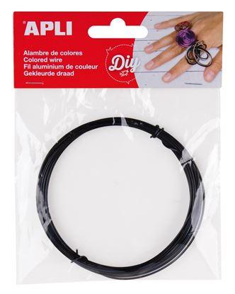 Obrázek Modelovací drát APLI černý / šířka 1,5mm / délka 5m